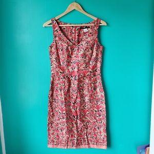 Peruvian Connection Floral Print Midi Dress Size 4